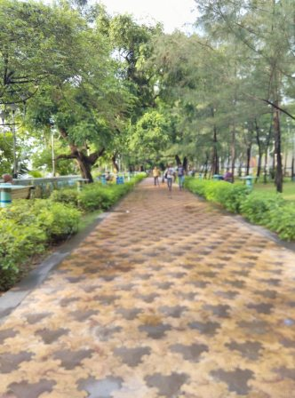 beautified path to babughat