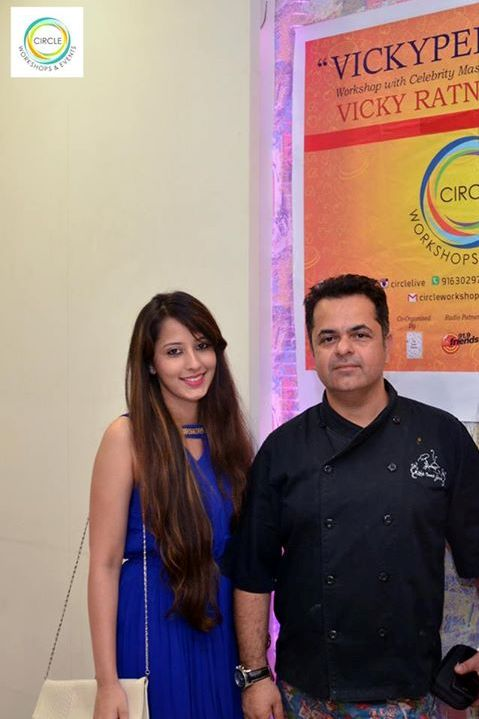Chef Vicky Ratnani with Mallika Juthani, CEO, Circle Workshops and Events