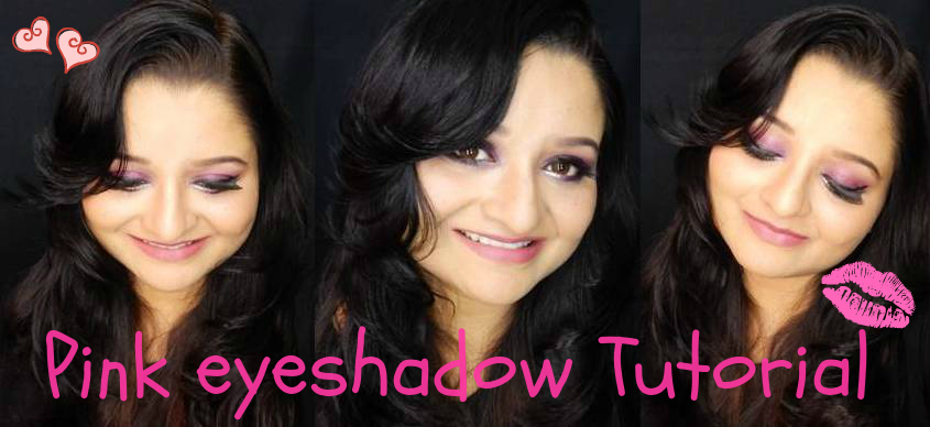 Pink Eyeshadow + Contour + Highlight + Full Face Foundation Tutorial !