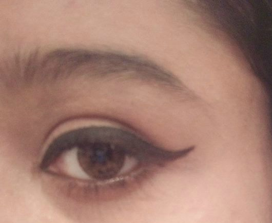 Deepti showed me how to get the winged liner right